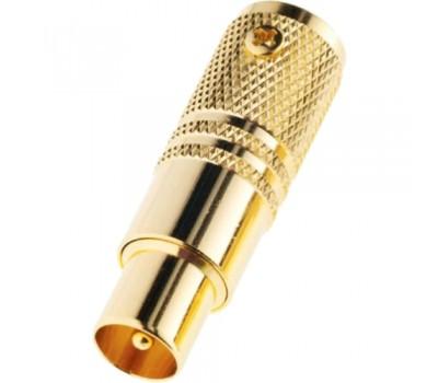 Разъем TV Plug male 7 мм золотой