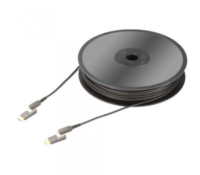Видео кабель Profi Micro HDMI 2.0 LWL 18Gbps D>A 10,0м