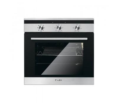 Духовой шкаф Электрический Lex EDM 070 IX стекло черное/нержавеющая сталь