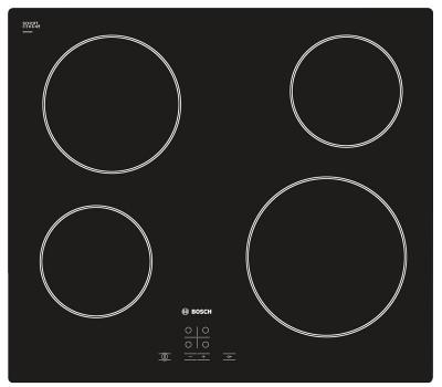 Варочная поверхность электрическая Bosch PKE611D17E черный