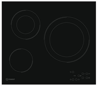 Варочная поверхность электрическая Indesit RI 360 C черный