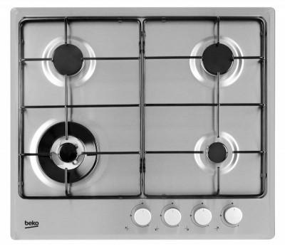 Варочная поверхность газовая Beko HIMW 64223 SX, нержавеющая сталь, серебро