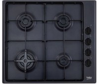 Варочная поверхность газовая Beko HIZG 64120 B, эмалированная сталь, черная