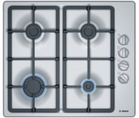 Варочная поверхность газовая Bosch PBP6C5B90, нержавеющая сталь, серебро