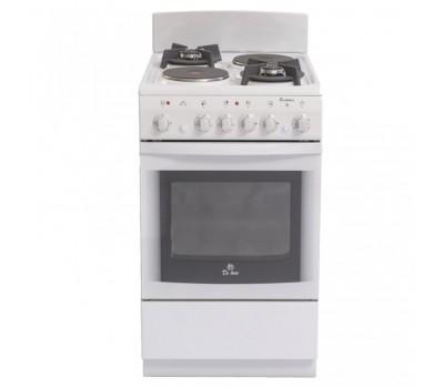 Плита Комбинированная De Luxe 506022.04гэ (щ) белый