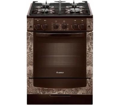 Газовая плита GEFEST 6500-02 0114 коричневый с рисунком