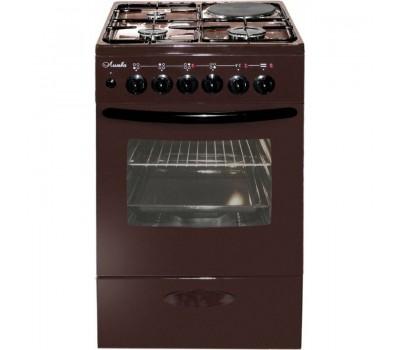 Комбинированная плита Лысьва ЭГ 1/3г01 МС-2у коричневый (без крышки)