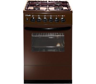 Плита Комбинированная Лысьва ЭГ 404 М2С-2у коричневый (стеклянная крышка)