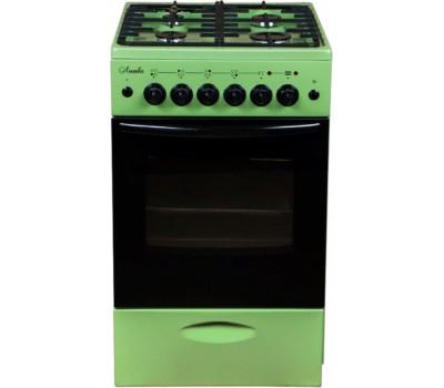 Плита Газовая Лысьва ГП 400 МС-2у зеленый (стеклянная крышка) реш.чугун