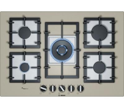 Газовая варочная поверхность Bosch PPQ7A8B90R бежевый купить недорого с доставкой