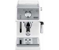 Кофеварка эспрессо Delonghi ECP33.21.W 1100Вт белый