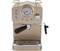 Кофеварка эспрессо Polaris PCM 1532E 1100Вт шампань