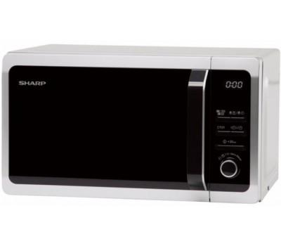 Микроволновая Печь Sharp R-6852RSL 20л. 800Вт серебристый/черный