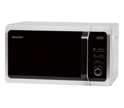 Микроволновая Печь Sharp R-2852RSL 20л. 800Вт серебристый/черный