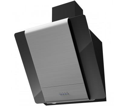 Вытяжка каминная Krona Talli 600 inox/black glass 3P нержавеющая сталь/черный