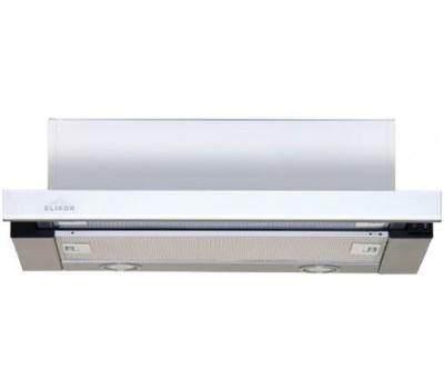 Вытяжка встраиваемая Elikor Интегра Glass 60Н-400-В2Д нержавеющая сталь/стекло белое управление: кнопочное (1 мотор)