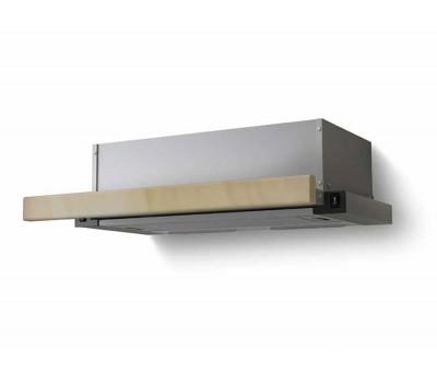 Вытяжка встраиваемая Lex Hubble 600 RAW нержавеющая сталь/бук неокрашенный управление: кнопочное (1