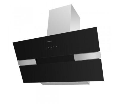 Кухонная вытяжка MAUNFELD Mersey 90 нержавеющая сталь\черное стекло купить недорого с доставкой, в нашем интернет магазине