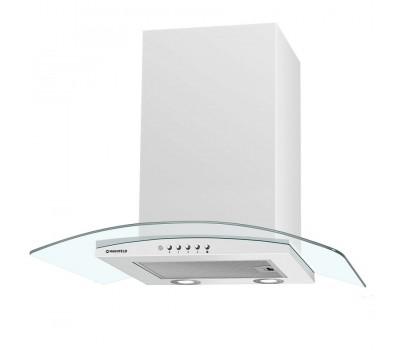 Кухонная вытяжка MAUNFELD Ancona Plus (C) 60 белый/прозрачное стекло купить недорого с доставкой, в нашем интернет магазине
