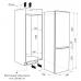Холодильник встраиваемый двухкамерный с системой NoFrost MAUNFELD MBF.177NFW купить недорого с доставкой, в нашем интернет магазине