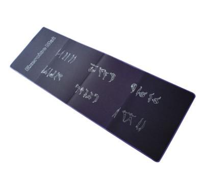 Складной гимнастический коврик 180х60х0.7см синий с черным, eva FITEX PRO купить недорого с доставкой