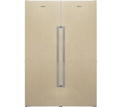 Холодильник Vestfrost VF395-1 F SBB бежевый (NoFrost) купить недорого с доставкой